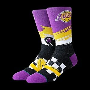 Lakers Stance Socks Mens Large new